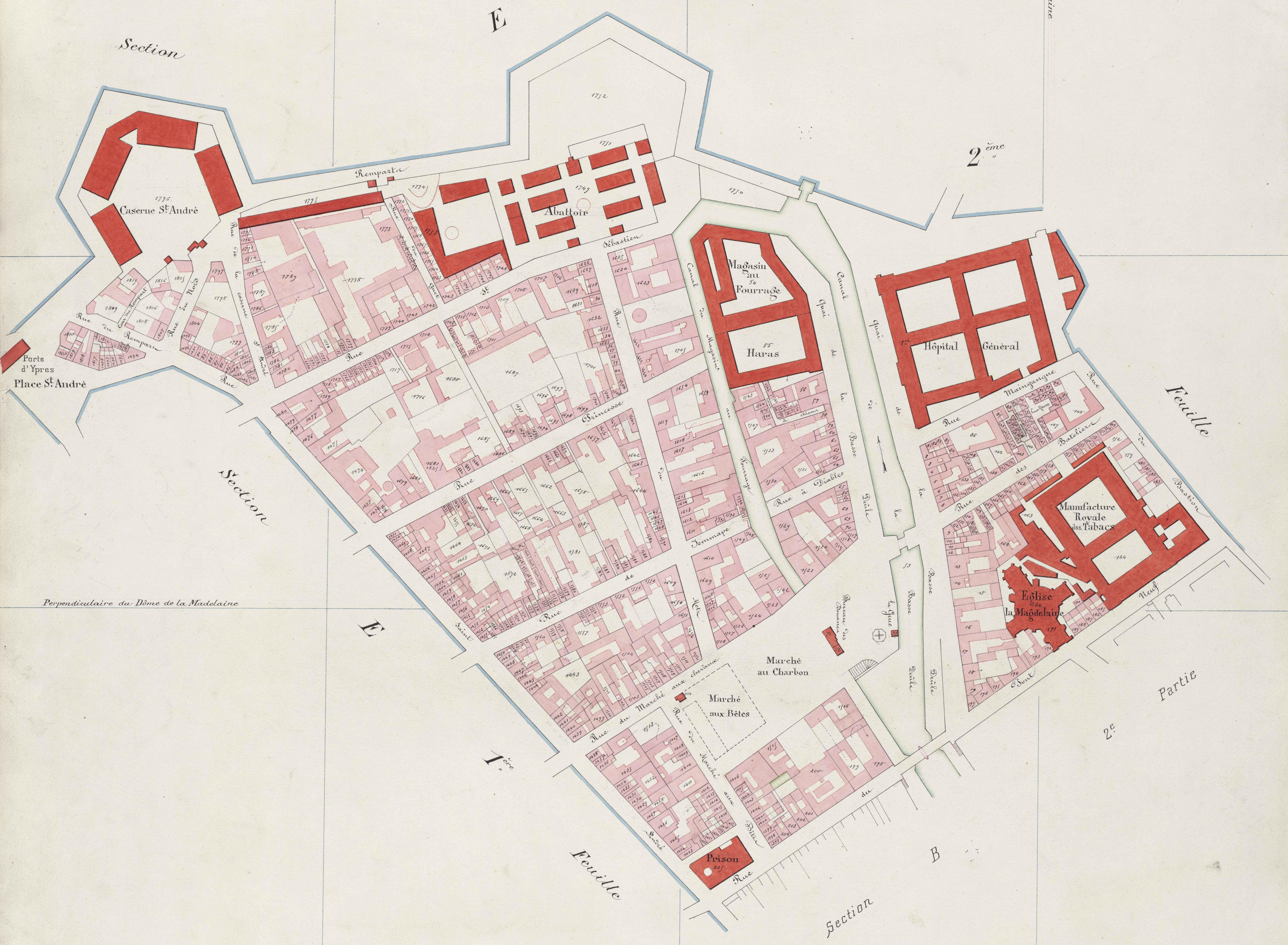 A La Decouverte Des Plans Cadastraux Archives Municipales De Lille